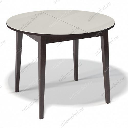 Стол 1000М венге/стекло крем