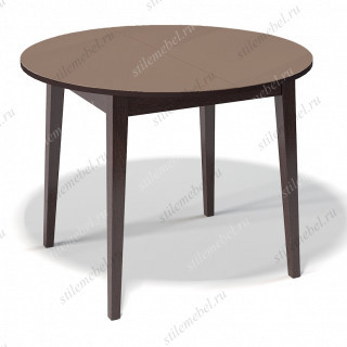 Стол 1000М венге/стекло капучино