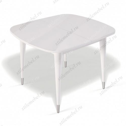 Стол К900 белый/стекло белое