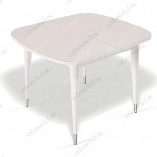 Стол К900 белый/стекло крем