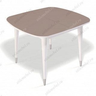 Стол К900 белый/стекло капучино