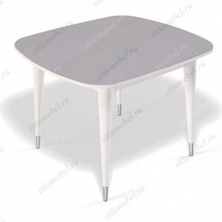 Стол К900 белый/стекло серое
