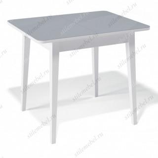 Стол 900М белый/стекло серое