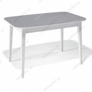 Стол 1200М белый/стекло серое