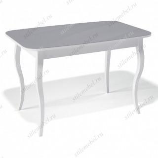 Стол 1200С белый/стекло серое