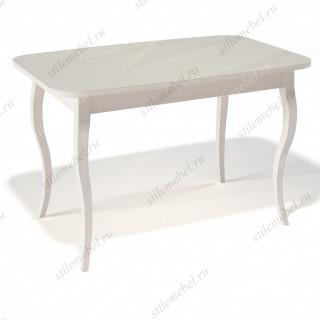 Стол 1200С крем/стекло крем