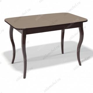 Стол 1200С венге/стекло капучино