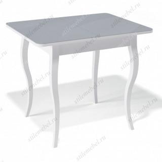 Стол 900С белый/стекло серое