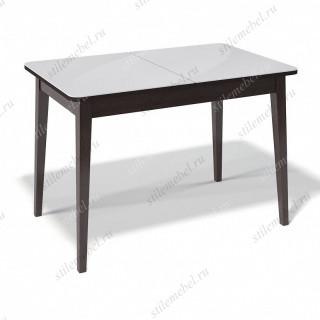 Стол 1100М венге/стекло белое сатин