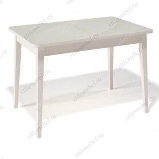 Стол 1100М крем/стекло крем глянец