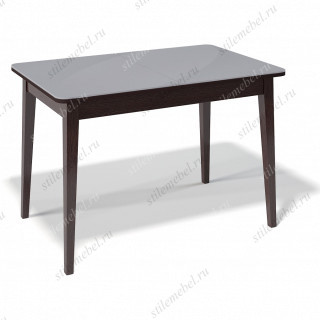 Стол 1100М венге/стекло серый сатин