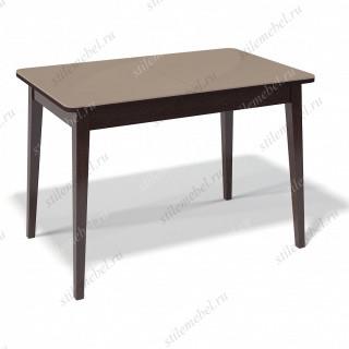 Стол 1100М венге/стекло капучино глянец