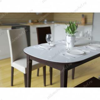 Обеденная группа 1300М венге/стекло белое + 4 стула 101М