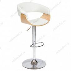 Барный стул VIMTA (mod.4021S) белый/натуральный/хром