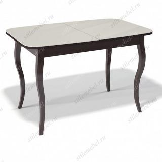 Стол 1200С венге/стекло крем