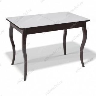 Стол 1100С венге/стекло белое глянец