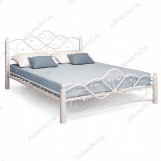 Кровать Венера 1 белый / белый 160х200 см