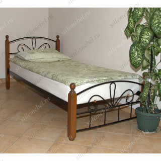 Односпальная кровать Арзу-М Темный орех (90х200)