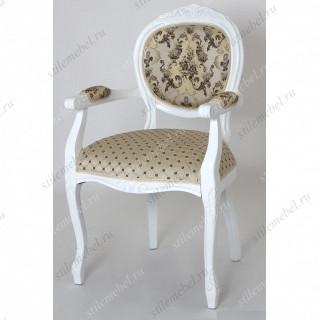 "Кресло ""Орион-2"" п/м (Белый / ткань Креам 110+109)без патины"