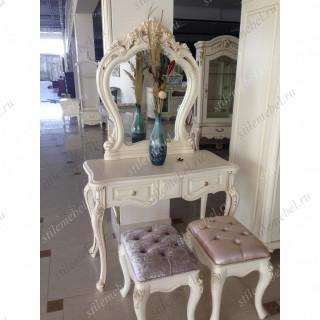 Туалетный столик с зеркалом БЕЗ БАНКЕТКИ MK-1850-IV