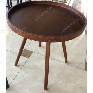 MK-2377. (SR-1319-W) Cтолик кофейный круглый темный орех