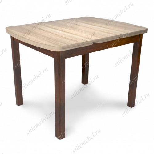 Стол обеденный Орлеан 1,7 ЛДСП орех темный/дуб сонома