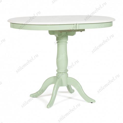 Стол обеденный SOLERNO Солерно (me-t4ex) ivory white (слоновая кость) / фисташковый