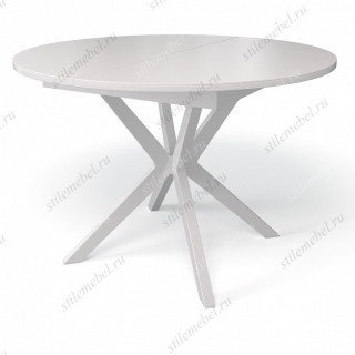 Стол B1100 белый/стекло крем глянец