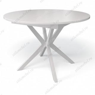 Стол B1100 белый/стекло белое сатин