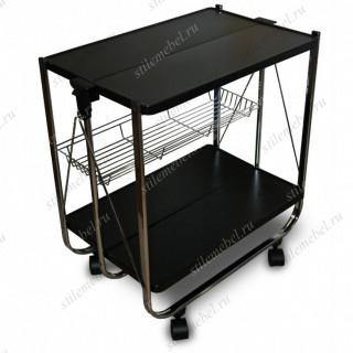 Столик сервировочный складной на колесиках SC-5119-MDF (Орех)
