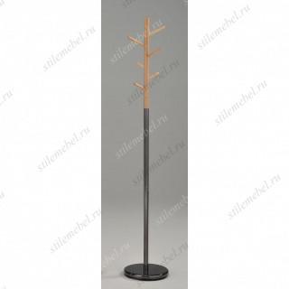 MK-2371-BL. Вешалка напольная цвет: черный/натуральное дерево