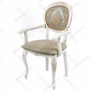 Кресло Adriano 2 молочный ткань голубая