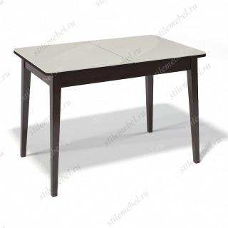 Стол 1100М венге/стекло крем глянец