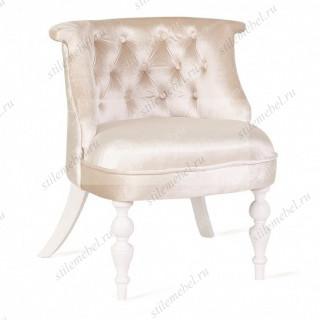 Кресло Бархат (эмаль белая/ 3-бежевый)