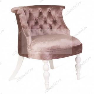 Кресло Бархат (эмаль белая/33-грязно-розовый)