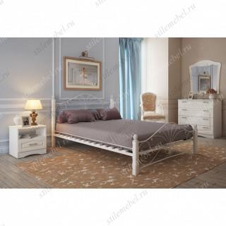 Кровать Фортуна 1 белый/белый (140х200)