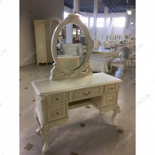 Туалетный столик с овальным зеркалом MK-8006-IV.