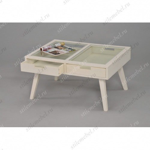 MK-6311-WT. Журнальный столик со стекл.столешницей
