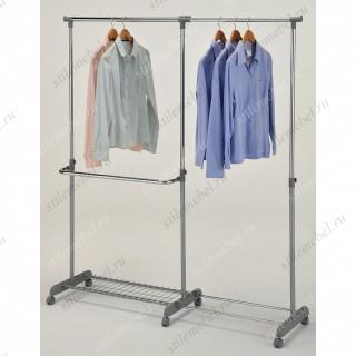 MK-6305. (CH-4846) Вешалка для гардеробных одинарная с доп.отделом