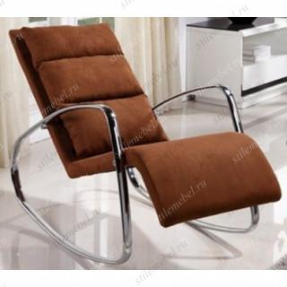 MK-5509-BR. Кресло-качалка обитое тканью