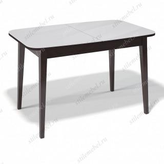 Стол 1200М венге/стекло белое