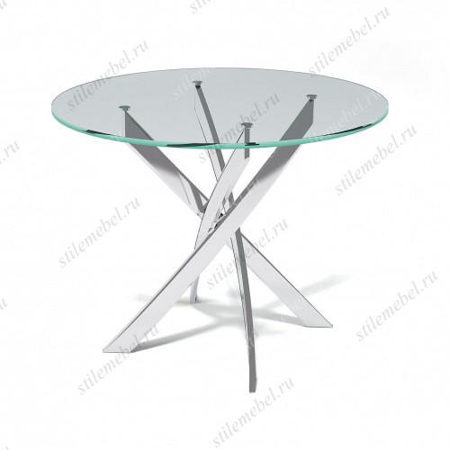 Стол R1000 хром/прозрачный