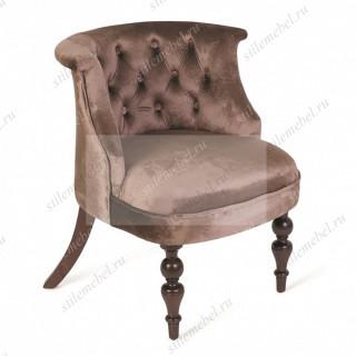 Кресло Бархат (эмаль белая / 45 - голубовато-серый)