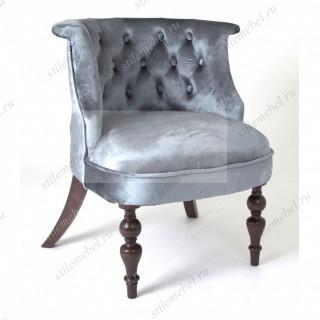 Кресло Бархат (темный тон / 45 - голубовато-серый)