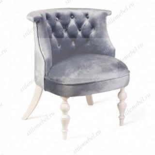 Кресло Бархат (эмаль белая / 9 - небесно-голубой)