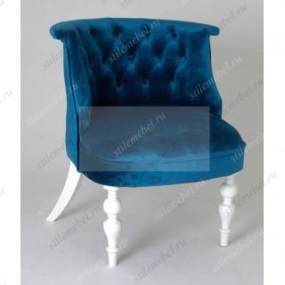 Кресло Бархат (эмаль белая / 34 - королевский синий)