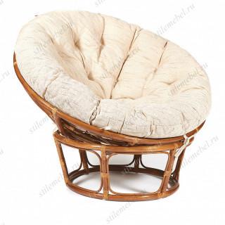 Кресло из ротанга «Папасан» (Papasan 23/01) + Подушка Pecan (орех)