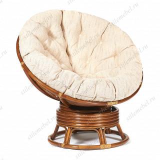 Кресло-качалка плетёное «Папасан» (Papasan 23/01B) + Подушка Pecan (орех)