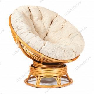 Кресло-качалка плетёное «Папасан» (Papasan 23/01B) + Подушка Honey (мед)