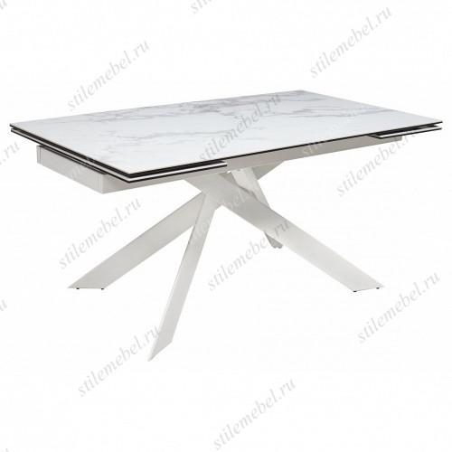 Стол SPYDER 160 Chinese Marble Ceramic+White